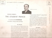 The Student Prince (Romberg) (RCA LK-1014) 1947 studio recording LP