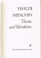 Theme and Variations     (MENUHIN)     (0-8128-1463-0)