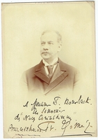 Thomé, Francis. 1 signed cabinet photo, inscribed to violinist S. Bourlinski, slightly trimmed, not affecting inscription, Paris May 22, 1903 4.25x6. 2 duplicate sepia photo cards, Collection Félix Potin 1.75x3.