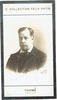 Thom�, Francis. 1 signed cabinet photo, inscribed to violinist S. Bourlinski, slightly trimmed, not affecting inscription, Paris May 22, 1903 4.25x6. 2 duplicate sepia photo cards, Collection F�lix Potin 1.75x3.