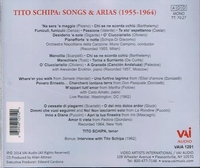 Tito Schipa  -  Songs & Arias, 1955-64;  Interview   (VAI 1281)