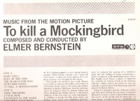 To Kill a Mockingbird         (AVA  AS-20)     Soundtrack LP