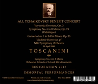 Toscanini;  Horowitz   (Tschaikowsky)   (Immortal Performances IPCD 1054)