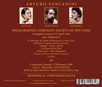 Toscanini;   Casadesus, Bidu Sayao,  Rose Bampton       (4-Immortal Performances IPCD  1049)