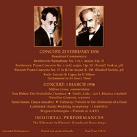 Toscanini;   Rudolf Serkin;   Dusolina Giannini   (2-Immortal Performances IPCD  1002)