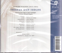 Tristan  (William Smith;  Ernst Gruber, Hanne-Lore Kuhse, Ramon Vinay)  (3-Ponto 1026)