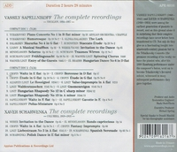 Vassilly Sapellnikoff  -  Xaver Scharwenka - Complete Recordings    (2-Appian APR 6016)