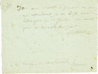 Viotti, Giovanni Battista. 1 signed note, 5x4