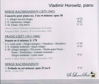Vladimir Horowitz, Vol. I      (St Laurent Studio YSL 78-025)