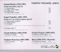 Vladimir Horowitz, Vol. III      (St Laurent Studio YSL 78-080)