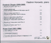 Vladimir Horowitz, Vol. IV     (St Laurent Studio YSL 78-134)