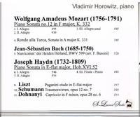 Vladimir Horowitz, Vol. VIII      (St Laurent Studio YSL 78-230)