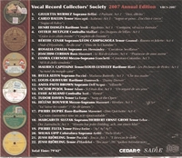 Vocal Record Collectors' Society - 2007 Issue          (VRCS 2007)