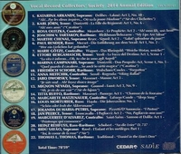 Vocal Record Collectors' Society  -  2014 Issue        (VRCS-2014)
