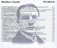 Walter Hyde      (Truesound Transfers 3014)