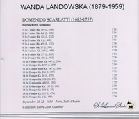 Wanda Landowska, Vol. V    (St Laurent Studio YSL 78-099)