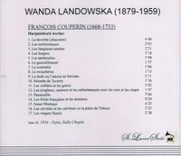 Wanda Landowska, Vol. VI  -  Couperin   (St Laurent Studio YSL 78-100)