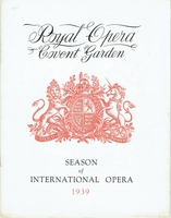 Weingartner, Felix - unsigned Royal Opera House program
