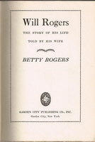 Will Rogers      (BETTY  ROGERS)