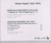 William Kapell, Vol. III;   William Primrose, Rodzinski    (St Laurent Studio YSL 78-116)
