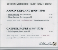 William Masselos, Vol. VI     (Copland -  Piano Fantasy)     (St Laurent Studio YSL T-348)
