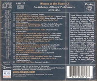 Women at the Piano, Vol. III  (Naxos 8.111217)
