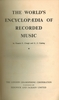 The World's Encyclopedia of Recorded Music -  WERM, Vol. I     (Clough & Cuming)