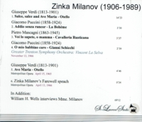 Zinka Milanov - Final Recital, plus Interview with William H. Wells   (2-St Laurent Studio YSL T-648)