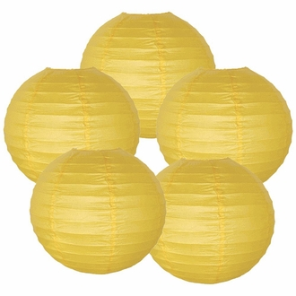 "10"" Pineapple Yellow Chinese Paper Lanterns (Set of 5, 10-inch, Pineapple Yellow)"