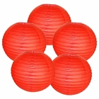 "10"" Red Chinese Paper Lanterns (Set of 5, 10-inch, Red)"