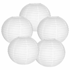 "10"" White Chinese Paper Lanterns (Set of 5, 10-inch, White)"