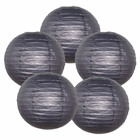 "12"" Black Chinese Paper Lanterns (Set of 5, 12-inch, Black)"