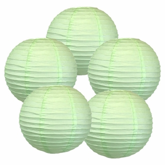 """12"""" Mint Green Chinese Paper Lanterns (Set of 5, 12-inch, Mint Green)"""