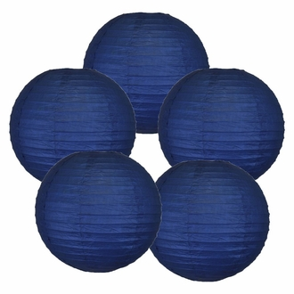 "12"" Navy Blue Chinese Paper Lanterns (Set of 5, 12-inch, Navy Blue)"
