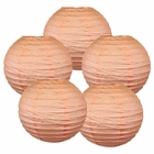 "12"" Peach Chinese Paper Lanterns (Set of 5, 12-inch, Peach)"