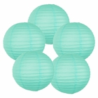 "12"" Seafoam Chinese Paper Lanterns (Set of 5, 12-inch, Seafoam)"