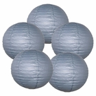 "12"" Slate Gray Chinese Paper Lanterns (Set of 5, 12-inch, Slate Gray)"