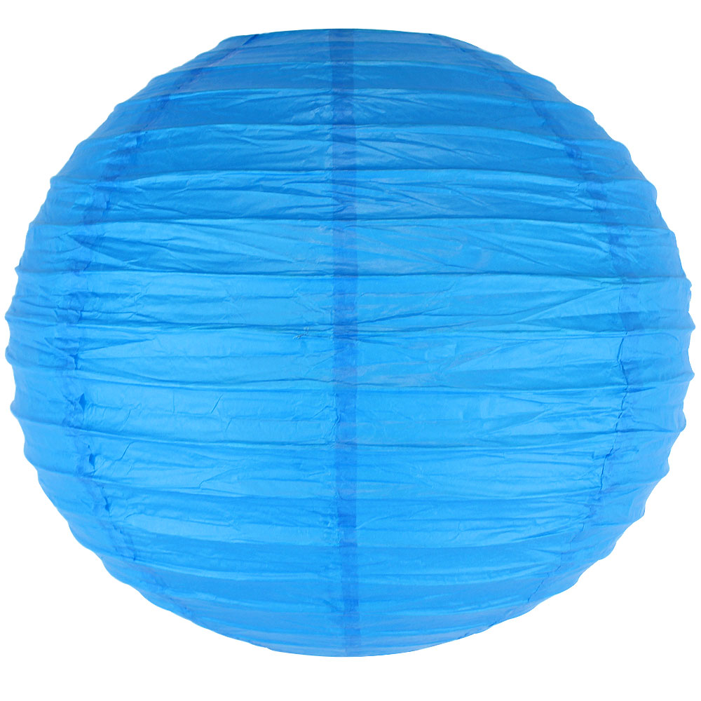 "3"" Blue Mini Paper Lanterns 10pcs"