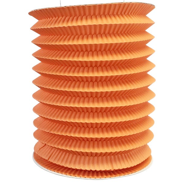 6inch Cylinder Accordion Paper Lantern Orange