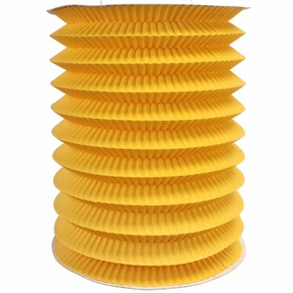 6inch Cylinder Accordion Paper Lantern yellow