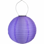 8 inch Solar LED Nylon Round Lantern Purple