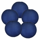 "8"" Navy Blue Chinese Paper Lanterns (Set of 5, 8-inch, Navy Blue)"