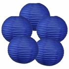 "8"" Royal Blue Chinese Paper Lanterns (Set of 5, 8-inch, Royal Blue)"