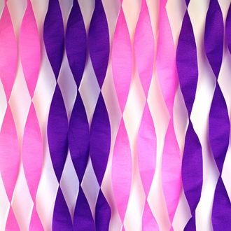 80ft Crepe Paper Party Streamers Purple