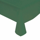 "Army Green Solid Plastic Tablecloth 54"" X 108"""