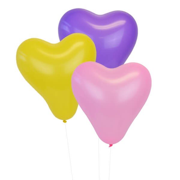 Assorted 12 inch Heart Latex Balloon 100pcs