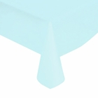 "Baby Blue Solid Plastic Tablecloth 54"" X 108"""