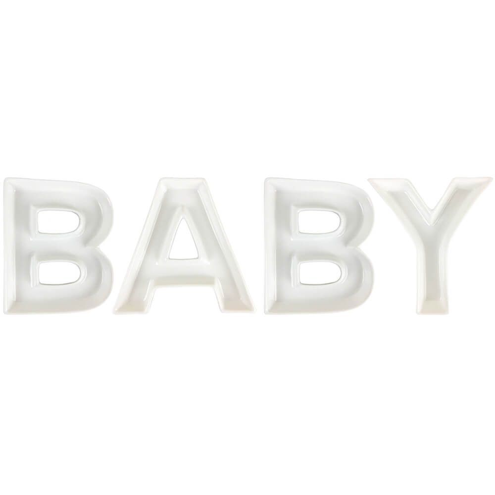 BABY Ceramic Letter Dish Decorating Kit