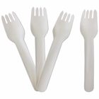 Biodegradable Paper Cutlery Utensil Blank Fork 12pcs