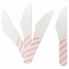 Biodegradable Paper Cutlery Utensil Striped Light Pink Knife 12pcs